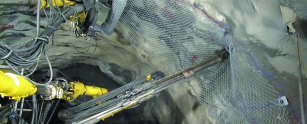 Мрежа ТЕССО® при подземни галерии и тунели